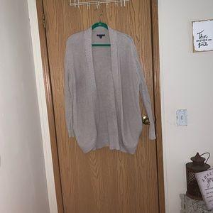 American Eagle ashy cream cardigan